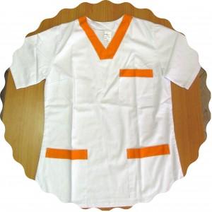 košeľa lekárska bielo oranžová