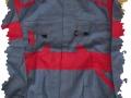 sivočervená blúza montérky
