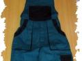 zelenočierne nohavice montérky